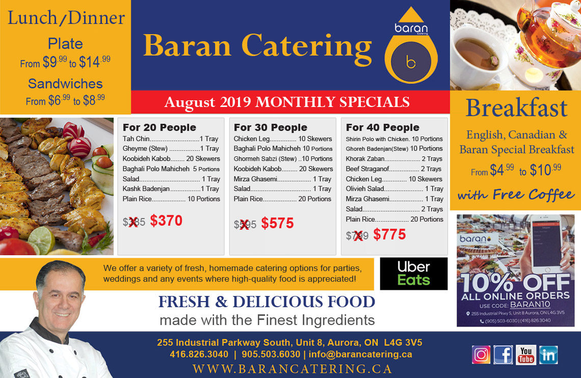 Monthly Specials - Persian